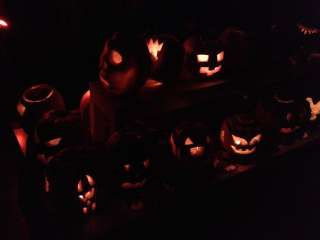 The end result of all our hard work :)  #Jobedu #Halloween #Pumpkins #PumpkinCarving #JobeduHalloween http://www.jo-bedu.com/