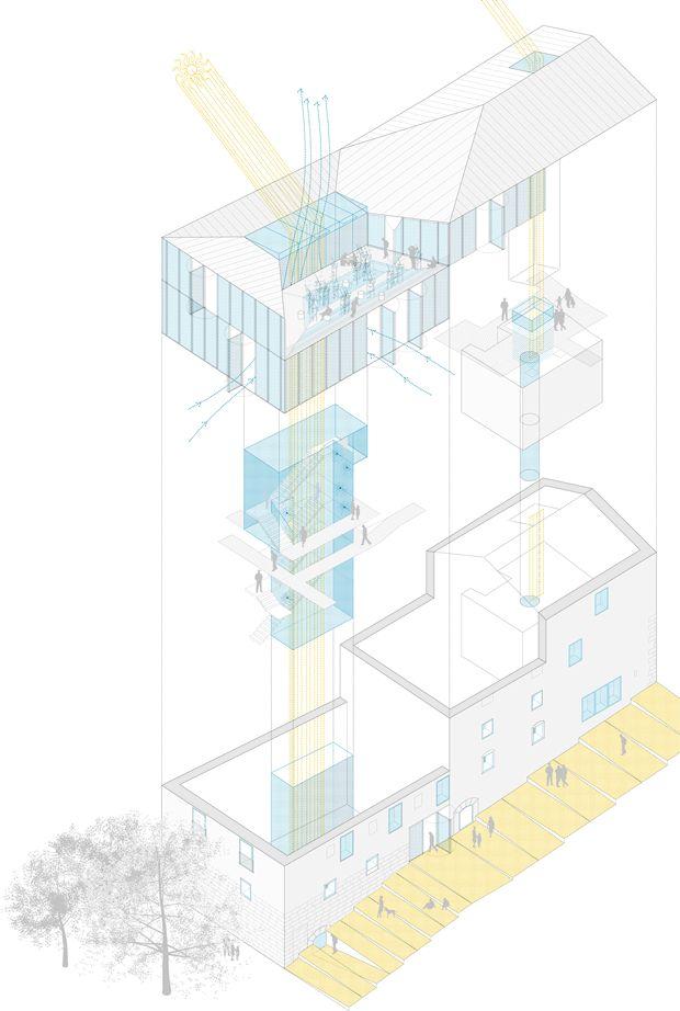 """DOS AL CUBO restoration of """"el molinillo"""" building"""