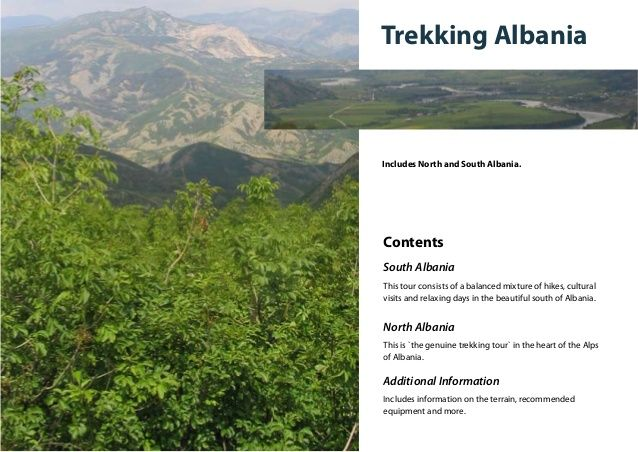 Trekking AlbaniaIncludes North and South Albania.ContentsSouth AlbaniaThis tour consists of a balanced mixture of hikes, c...
