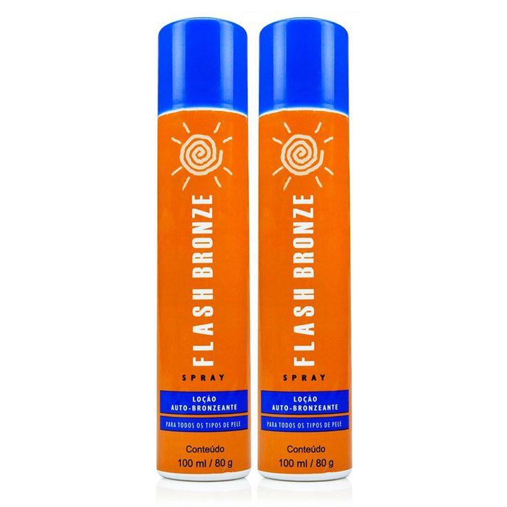 Flash Bronze Spray Kit com 2 Auto Bronzeador a Jato - 100ml - cabeleza