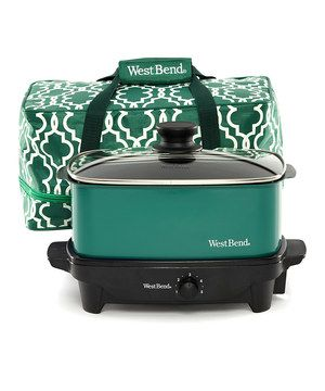This convenient cooker is perfect for slow-roasting a large meal or stew for a heaping helping of delicious dishes. Featuring an adjustable temperature control and transport tote, it's guaranteed to keep up to five quarts of food warm for at least two hours even after being unplugged.