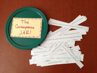 Creative ideas for the consequence jar