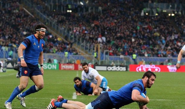 France v Italy 15.03.2015 Yoann Maestri scored the first of France's two tries ©INPHO/Ryan Byrne
