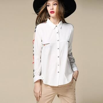 Famous Brand Women Blouses Long Sleeve Turn-down Collar Cotton Chiffon Plaid Ladies Office Shirts Loose Casual Women Tops