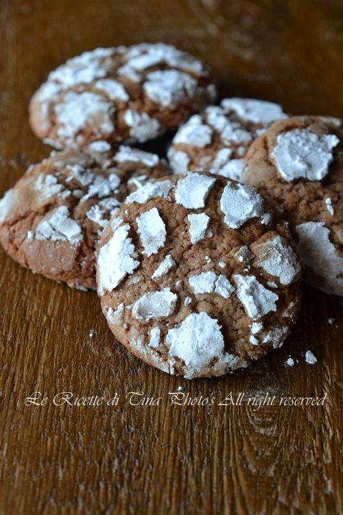 le ricette di tina,chocolate crinkles,biscotti facili