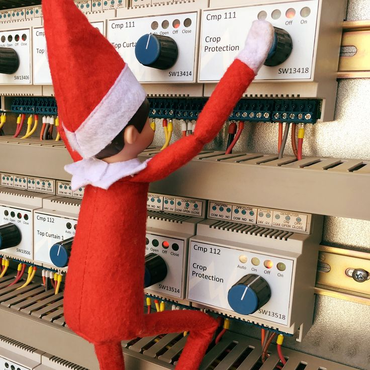Frankie, our #ElfOnTheShelf, is most impressed with our sophisticated #greenhouse climate control system, just like the launch pad at NASA.