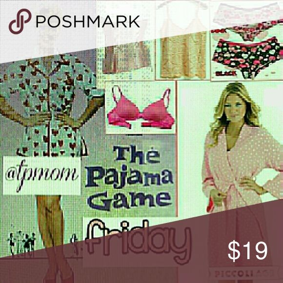 PG share group sign in. July 7 Sharing begins at 9 a.m. and the group closes at approximately 6 p.m. and these are all Eastern Standard Time. Please share 5 items in the Intimates category. Please sign out when finished and let's make some sales. Please tag me with any questions or comments on the Q&A page in this section. Please finish sharing by midnight in your own time zone. Intimates & Sleepwear