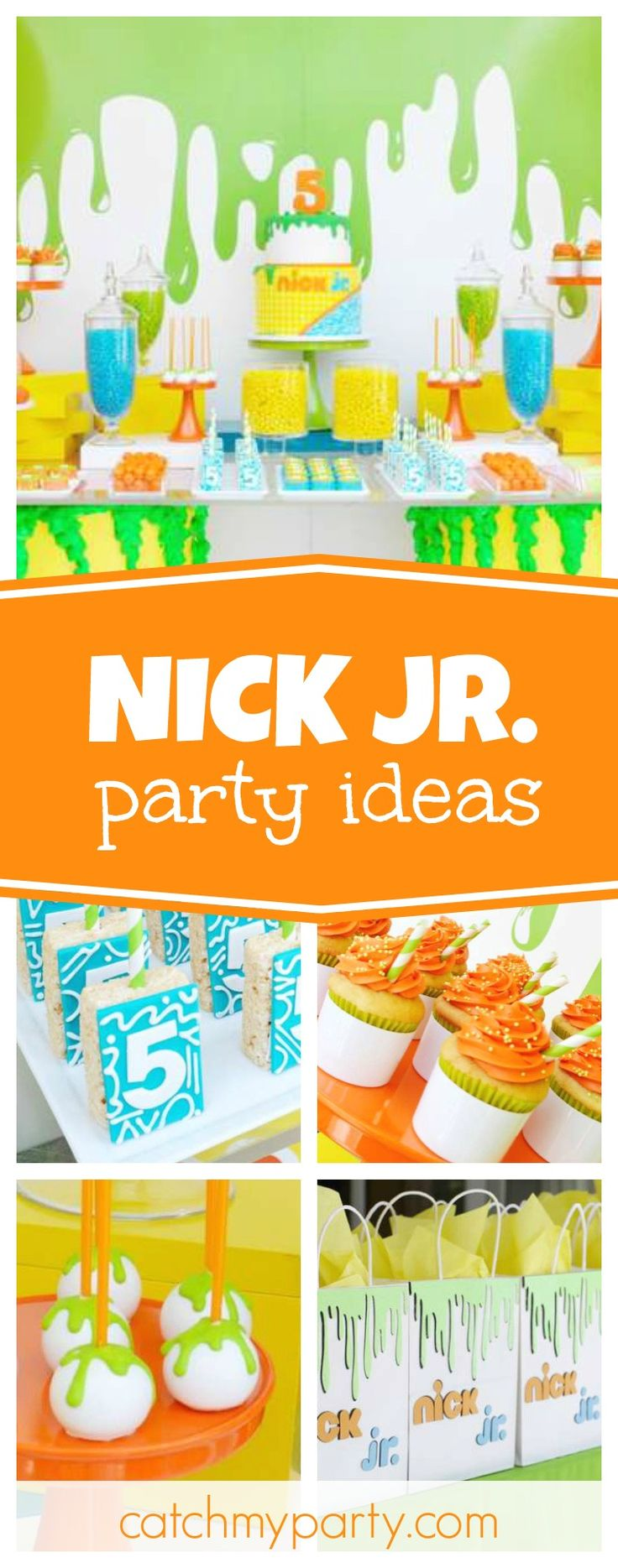 Check out this fantastic Nick Jr. Birthday party! The dessert table is so much fun! See more party ideas and share yours at CatchMyParty.com
