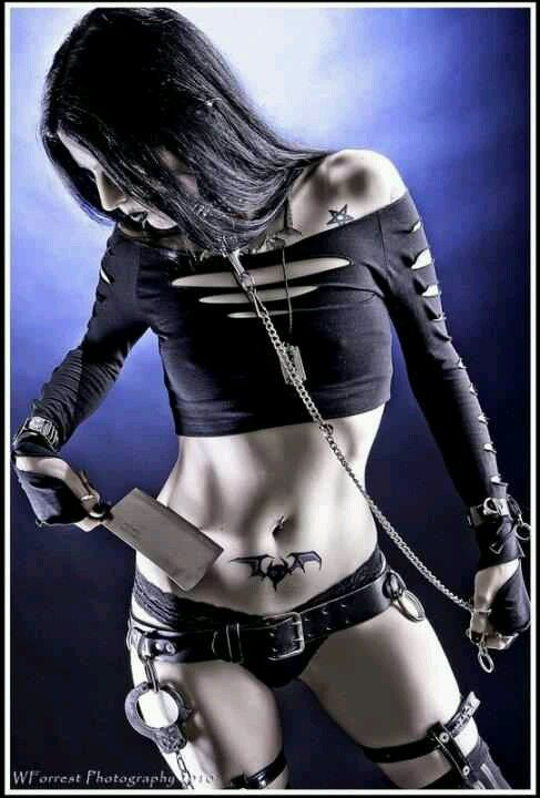 Goth Gothic.  Love the tattoo.
