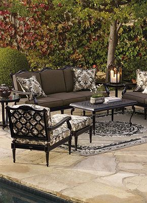 By adding dark, rich colors to your outdoor furniture you can create an elegant appeal.