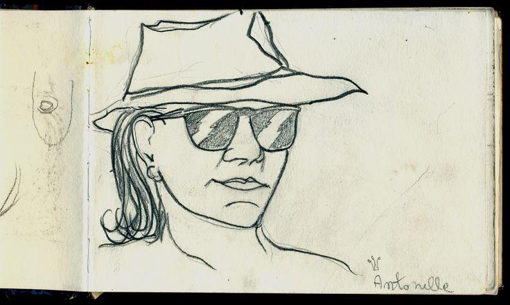 Antonella Elba island 1995 - Sketcher Riccardo Giunti sketchbook summer 2002. #riccardogiunti
