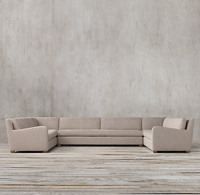 Petite Belgian Slope Arm Upholstered Customizable Sectional