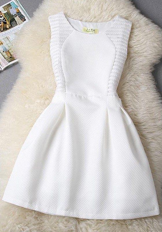 White Plain Lace Sleeveless Slim Midi Dress