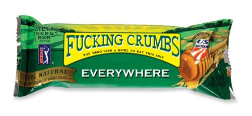 I'm eating one now, more crumbs on me than bar in me