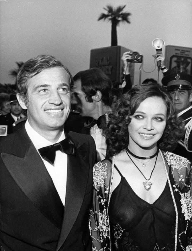 stavisky film | Laura Antonelli et Jean-Paul Belmondo, en Italie le 16 mai 1974, lors ...