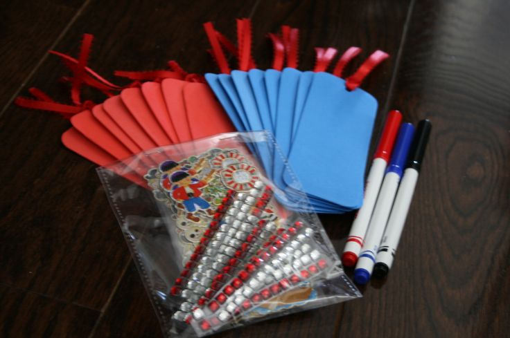 Pirate Party package from Ready, Set, Party comes with craft activity for all your guests.   Not only the essentials, but theme based activities...