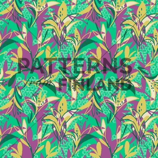 Equator – Salonkililja by Kahandi Design   #patternsfromagency #patternsfromfinland #pattern #patterndesign #surfacedesign #printdesign #kahandidesign