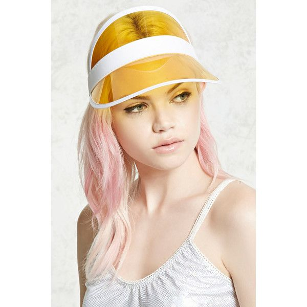 Forever21 Translucent Visor (555 RUB) ❤ liked on Polyvore featuring accessories, forever 21 and sun visor
