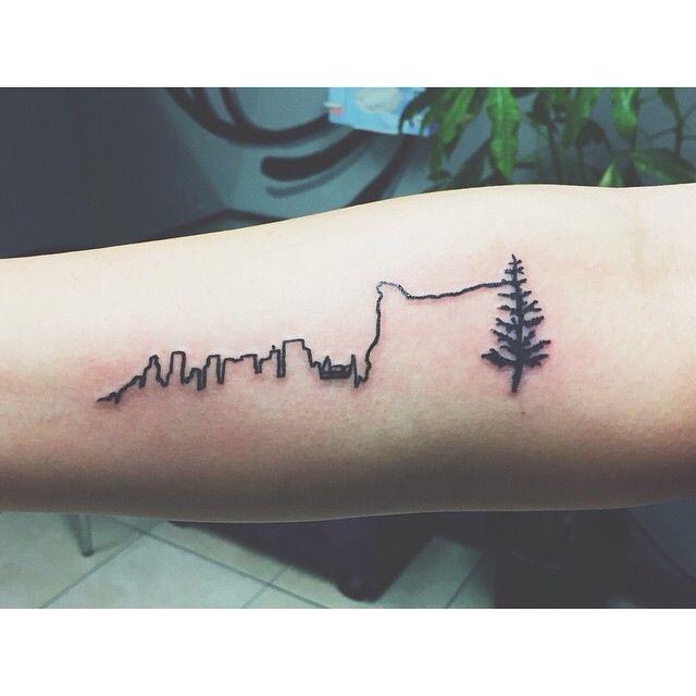 Great Oregon tattoo. Rural and Urban