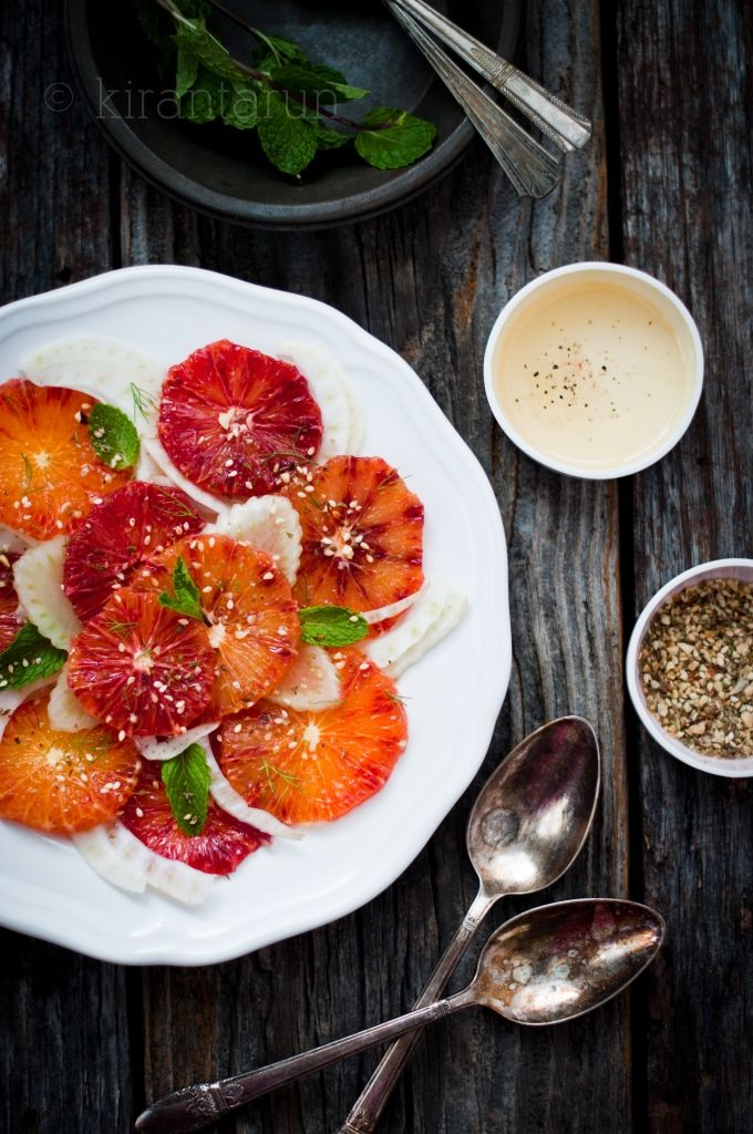 Blood orange fennel salad travels surprising well...perfect for tailgating! CLICK HERE for more tailgating recipes.