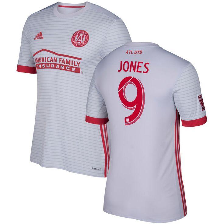 Kenwyne Jones Atlanta United FC adidas 2017 Secondary Replica Jersey - Gray/Red