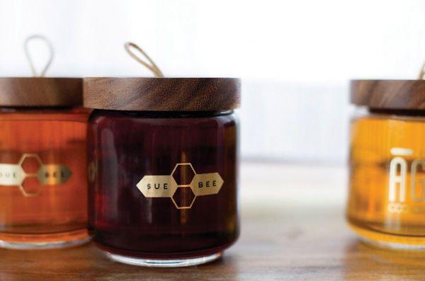 Ashley Gustafson's Honey Jar Design Brings a Freshness to Overused Motifs #eco trendhunter.com