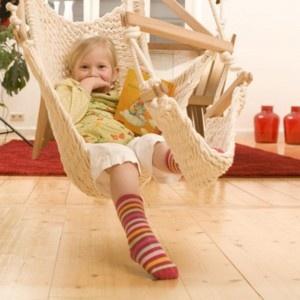 Hamaca para niños a partir de 3 años de algodón de cultivo biológico. Fabricante: Traumschwinger.