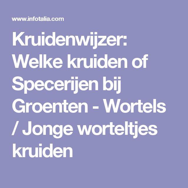 Kruidenwijzer: Welke kruiden of Specerijen bij Groenten - Wortels / Jonge worteltjes kruiden