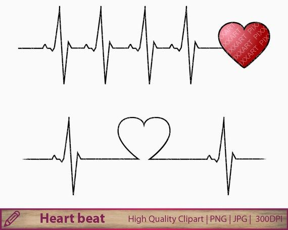 Heartbeat Svg Png Love Clipart Love Life Medical Printable Etsy In 2020 Heartbeat Tattoo In A Heartbeat Clip Art