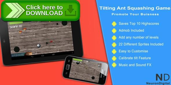 [ThemeForest]Free nulled download Tilting Ant Squashing Game - Promote Any Business from http://zippyfile.download/f.php?id=55648 Tags: ecommerce, Accelerometer, android, ant, ball, bug, eclipse, entertainment, fun, game, gravity, java, promote, tilt, tilting, videogame