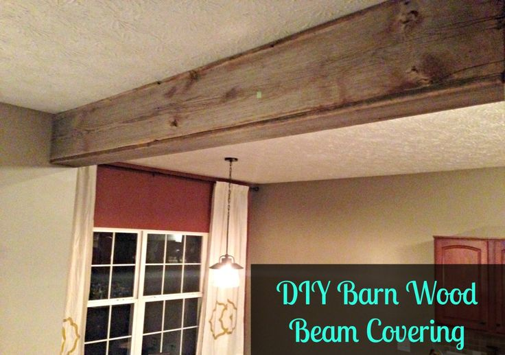 diy reclaimed barn wood beam covering diy projects