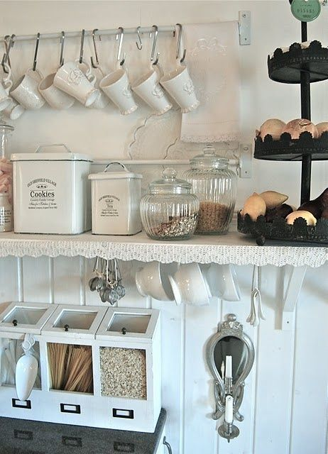 Chic Coffee Bar at Home | If we had a tea and coffee station like this in our house you would be ...