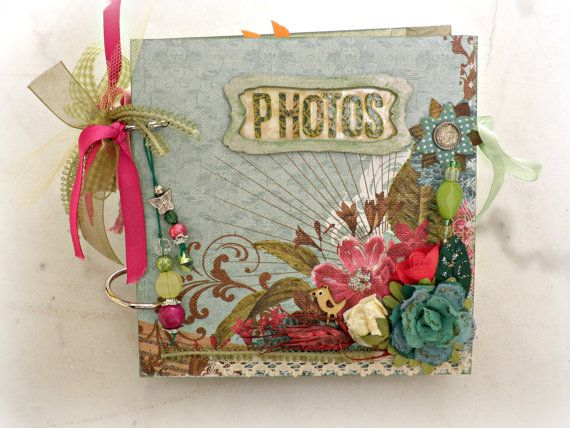 Nature mini album Handmade photo book by sweetpaperlife on Etsy