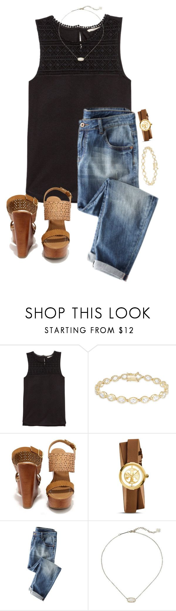 """""""Untitled #484"""" by lydia-hh ❤ liked on Polyvore featuring H&M, Dolce Giavonna, Soda, Tory Burch and Kendra Scott"""