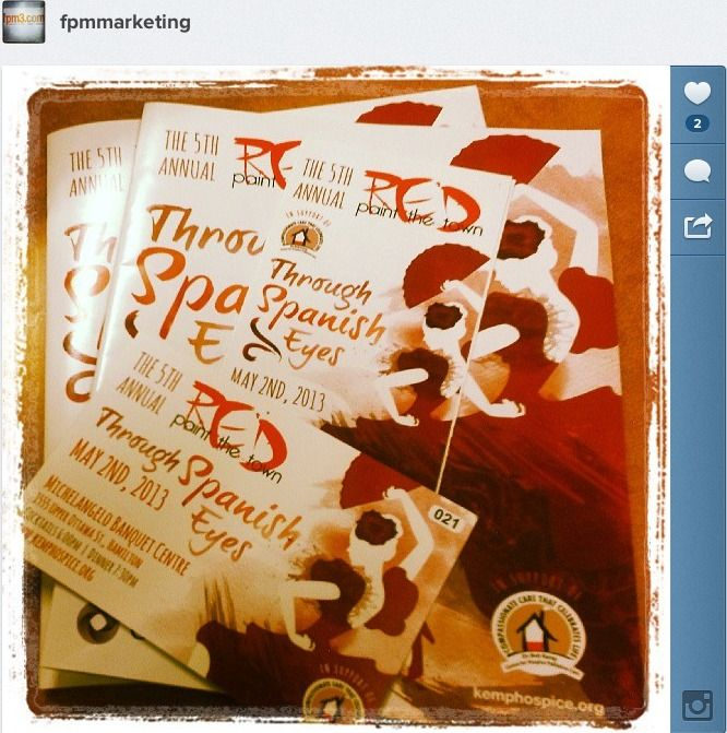FPM3 brochures and flyers for the Paint The Town Red Event.