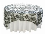 www.efavormart.com - tablecloths, table linens, wholesale tablecloths, chair covers, table overlays, table runners, flocking pattern