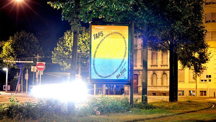 Campagne d'affichage pour le théâtre du TAPS.