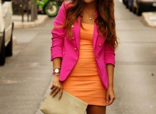 hot pink & tangerine