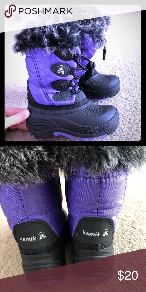 Like new Kamik winter boots Like new condition. Super easy to get on and off. Very warm. Kamik Shoes Rain & Snow Boots
