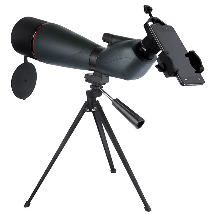 FMC 20-60X80 Angled Spotting Scope Zoom Monocular Telescope+Phone Mount Adapter