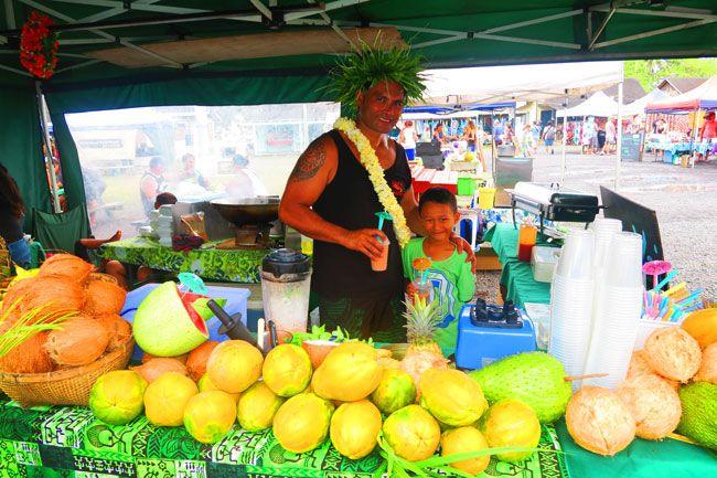 Punanga Nui Market Rarotonga Cook Islands smoothie