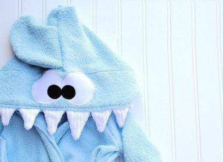 Espaço Infantil – Roupão Infantil Tubarão Passo a Passo
