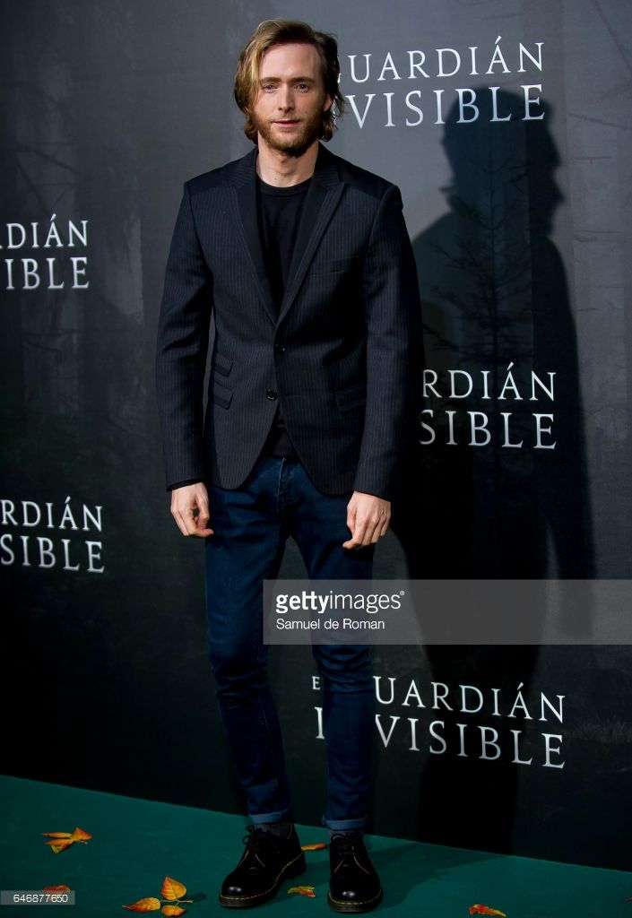 Actor Pablo Rivero during 'El Guardian Invisible' Madrid Premiere on March 1, 2017 in Madrid, Spain.