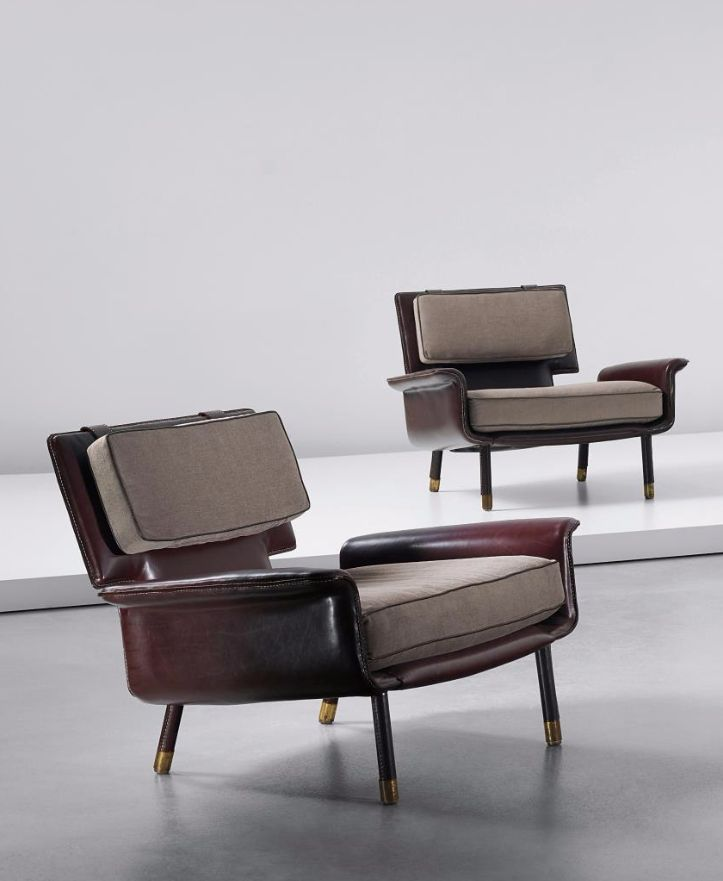 M :: Jacques Quinet; Lounge Chairs From His Corsica Apartment,