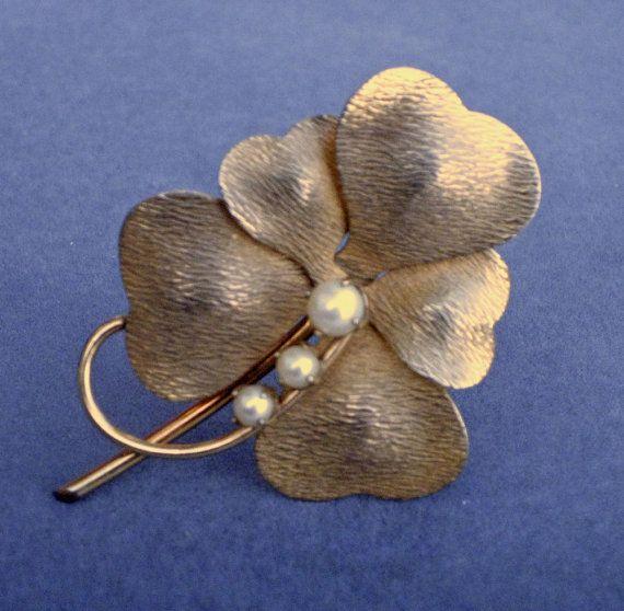 Gold Filled 5 Leaf Clover Brooch by Carl-Art by MrsFinder on Etsy