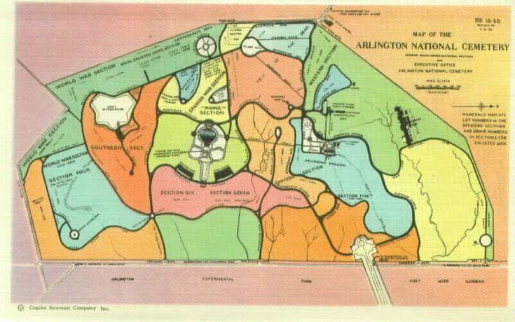 arlington cemetery map | 1934 Souvenir Folder of Arlington National Cemetery
