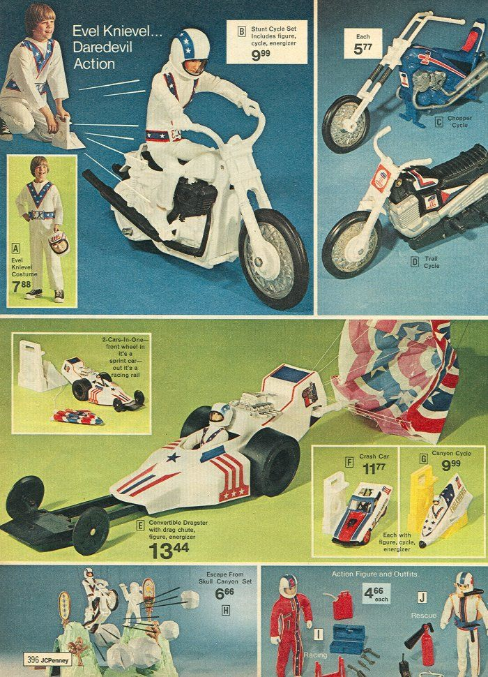 Evel Knievel Dragster. The parachute shot out of the back.
