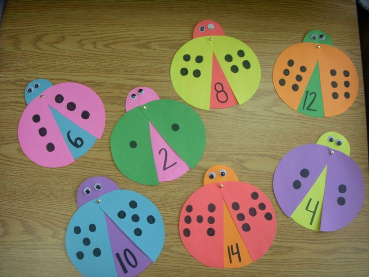I love this idea. Young students will determine how many dots are on the ladybug. Then, they open the wings to see the correct answer! Gorgeous and Effective.