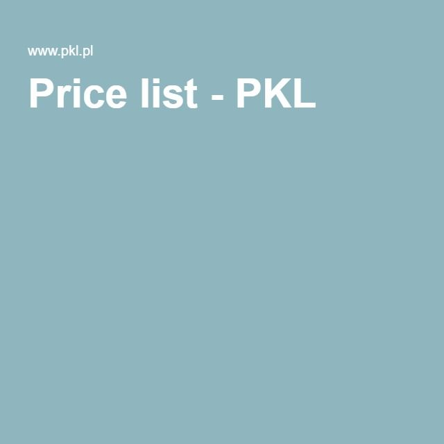 Price list - PKL