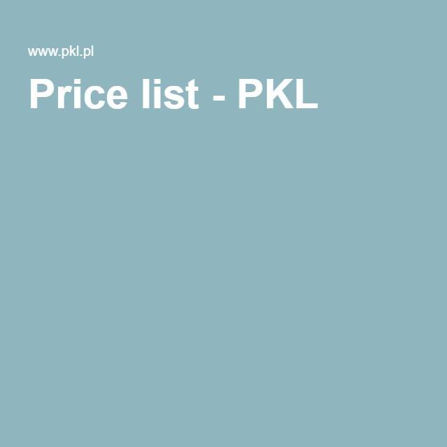 Price list - PKL